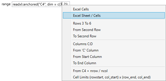 How to import Excel file to Stagraph