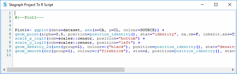 Export of Stagraph plot as an R script for Power BI
